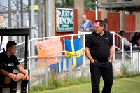 Martin Allen in front of the Barnet Banners