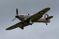 Hurricane coming in to land at Staverton