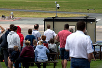 Crowds gather at The Aviator at Staverton to watch the Hurricane