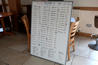 Betting board for day two