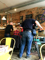BBC interviewing the owner of the Fossgate Social