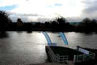River Wye from Hereford Rowing Club, just before the all in on d