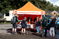 Brimscombe checkpoint during the 5 Valleys Walk in aid of Meningitis Now