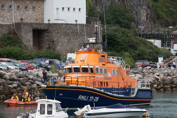 RNLI searching along with the Coastguard for a missing person