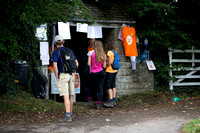 Slad Village checkpoint during the 5 Valleys Walk in aid of Meningitis Now