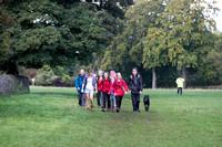 Walking across the Common during the 5 Valleys Walk in aid of Meningitis Now